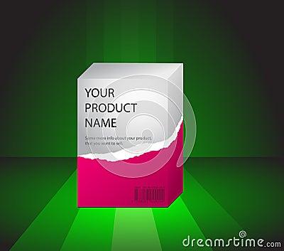 Previsione del prodotto su un verde