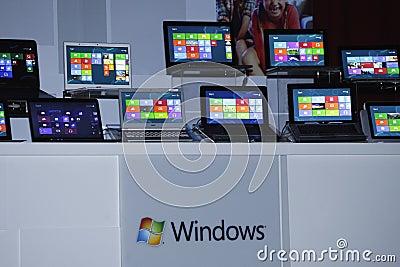 Previsione della versione della finestra 8 Immagine Stock Editoriale