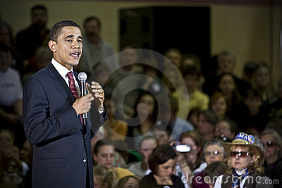 Prezydent Barack Obama Obraz Stock Editorial
