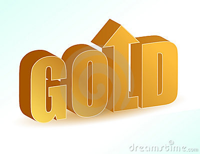 Price increase in gold.