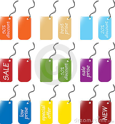 Price and labels tag sets