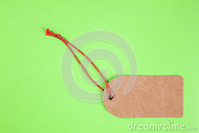Price Tag on Green Background