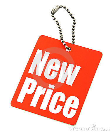 Free Price Tag On White Royalty Free Stock Image - 4870916