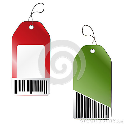 Price tags with barcode