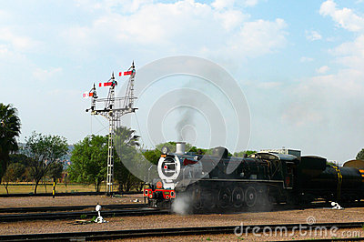 Pride of Africa train about to depart from Capital Park Station in Pretoria, South Africa Editorial Stock Photo