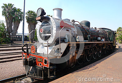 Pride of Africa train about to depart from Capital Park Station in Pretoria, South Africa Editorial Image