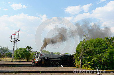 Pride of Africa train about to depart from Capital Park Station in Pretoria, South Africa Editorial Photography