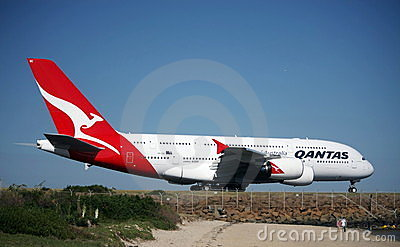 Pride of the Fleet, Qantas Airbus A380. Editorial Image