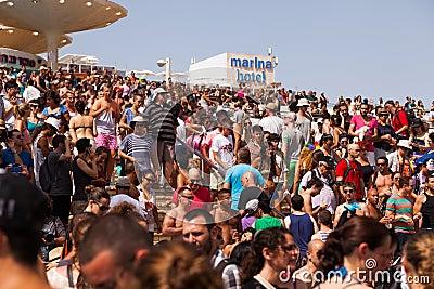 Pride Parade Tel-Aviv alegre 2013 Foto Editorial