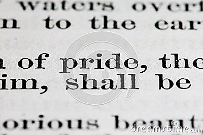 Pride text