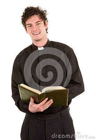 Priest with a bible