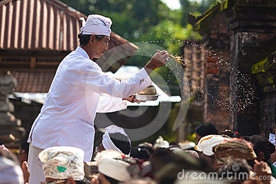 Priest blessing Editorial Image