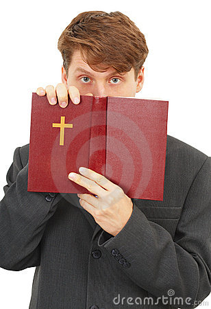 Free Priest Defends The Scriptures Royalty Free Stock Image - 13935896