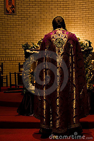 Free Priest In The Altar Royalty Free Stock Image - 2219306