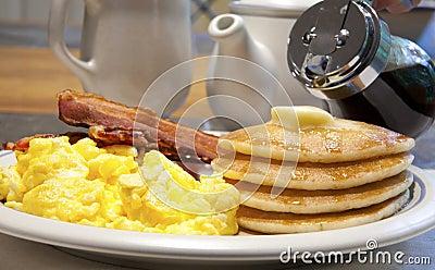 Prima colazione del pancake
