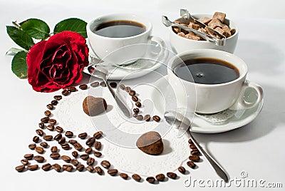 prima colazione romantica immagini stock libere da diritti immagine 30668859. Black Bedroom Furniture Sets. Home Design Ideas