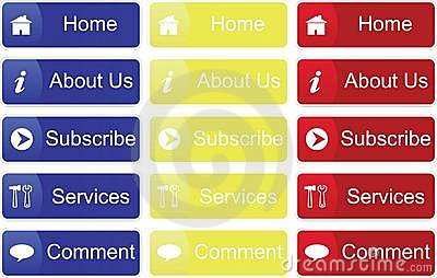 Primary Color Buttons Stock Images - Image: 17590654