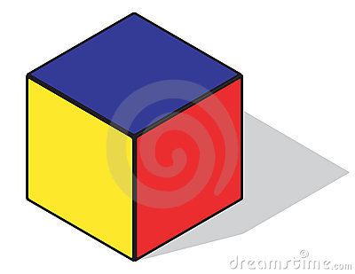 Primary color cube