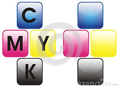 Primary colors color cmyk
