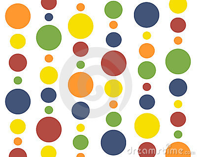 Primary colors polkadots