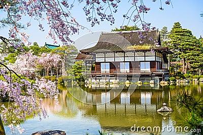 Primavera Al Santuario Di Heian A Kyoto Fotografia Stock - Immagine: 50763843