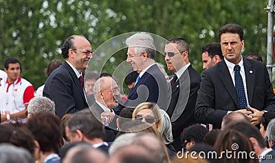 Prime Minister Mario Monti Editorial Photo
