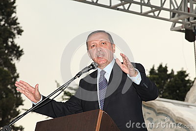 Prime Minister Recep Tayyip Erdogan Editorial Photo