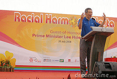 Prime Minister of Singapore Editorial Image
