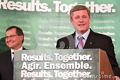 Prime Minister Stephen Harper Editorial Stock Image