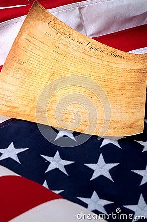 A primeira página dos E.U. Bill ou direitas sobre