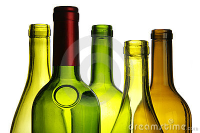 Primer de las botellas de vino