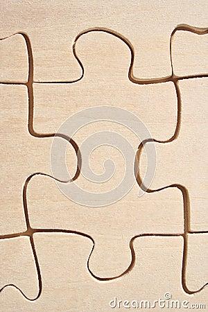 Primer de madera de los rompecabezas