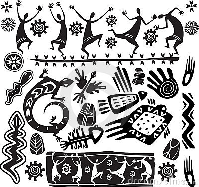 Free Primitive Art Design Elements Stock Photography - 20490132