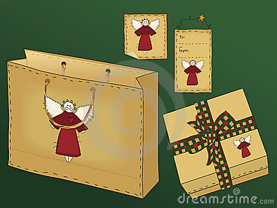 Primitive Folk Art Gift Set