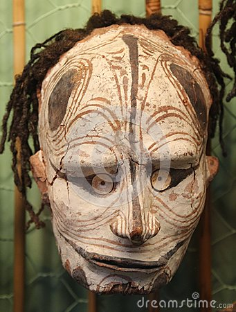 Free Primitive Frightening Mask From Papua New Guinea, Australia Stock Photography - 37520952