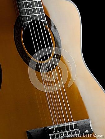 Primo piano classico della chitarra