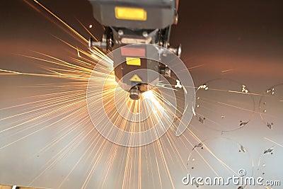 Primo piano del laser