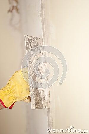 Rinnovamento domestico della parete con la ruspa for Disegni del mazzo del secondo piano