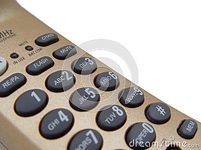 Primo piano del telefono dell oro