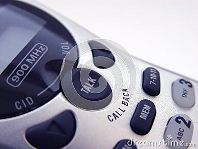 Primo piano del telefono senza cordone