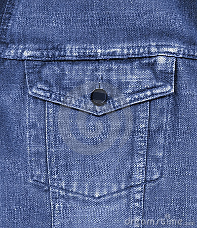 Primo piano di vecchia casella delle blue jeans