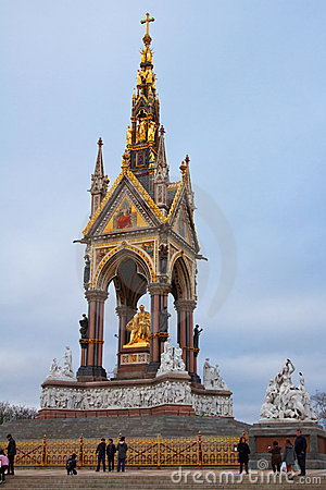 Prince Albert memorial in Hyde Park Editorial Image