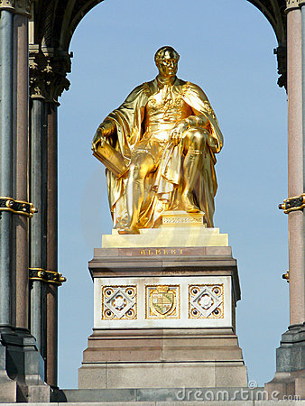 The Prince Albert memorial in Hyde park, London.