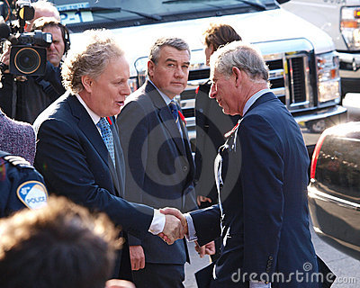 Prince Charles with Premier Jean Charest Editorial Stock Image