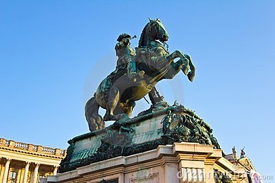 Prince Eugene StatueLow Angle