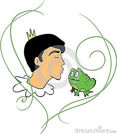 Prince kisses frog
