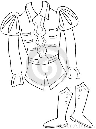 Prince S Clothes Coloring Page Stock Illustration Image