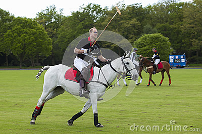 Prince William in attendance for polo match. Editorial Stock Image
