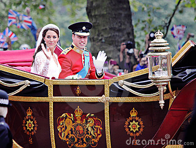 Prince William and Catherine wedding Editorial Image