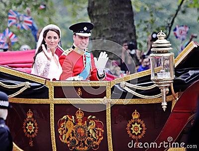 Prince William and Catherine wedding Editorial Image